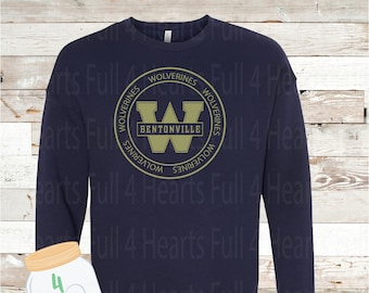 Adult and Youth Circle West Wolverines Navy or Grey Crew Neck Sweatshirt