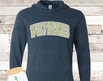 Wolverines Hooded long sleeve Tee