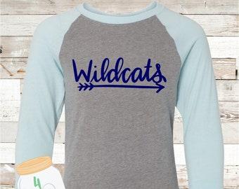 Youth Wildcats Arrow Raglan Tee