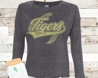 Adult Tigers with baseball laces pullover
