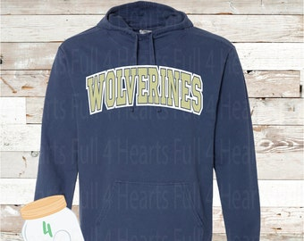 Wolverines Gray or Navy Hooded Pullover by Comfort Colors