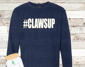 Clawsup Navy Pullover by Comfort Colors