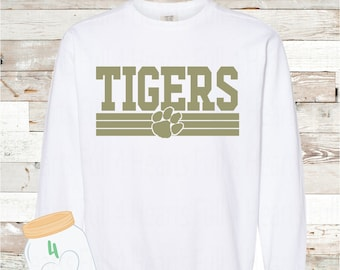 Adult and Youth Gold Tigers Comfort Colors Sweatshirt