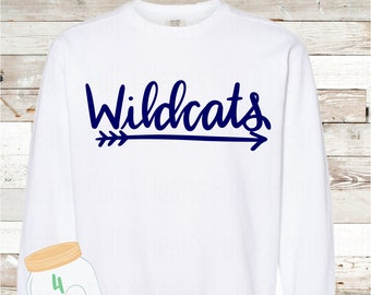 Adult and Youth  wildcats arrow Comfort Colors Sweatshirt