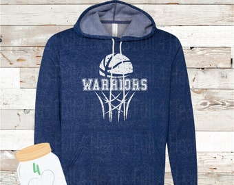 Warriors Blue Hoodie Adult