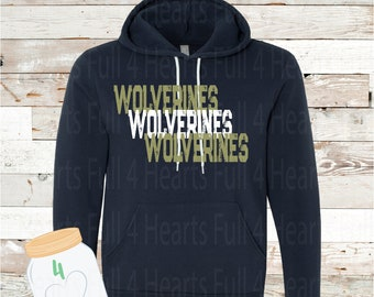 Adult and Youth Wolverines Navy or Grey Hoodie