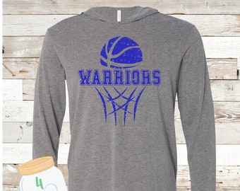 Warriors Basketball Hooded tee Adult