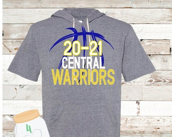 20/21 Warrior basketball short sleeve hoodie Adult