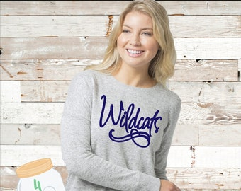 Wildcats cuddle fleece pullover