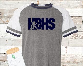HBHS baseball short sleeve vintage ringer