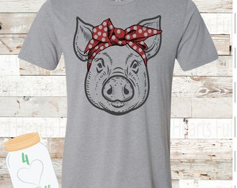 CHILD Pig Bandana Tee Unisex Adult