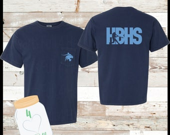 Youth & Adult HBHS Baseball Comfort Colors Tee
