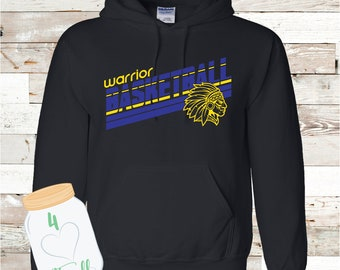 Warrior Basketball Hoodie Adult