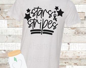 Stars and Stripes Tee Unisex Adult