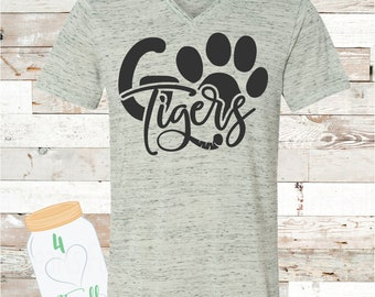 Adult Go Tigers Paw Bella Canvas Tee