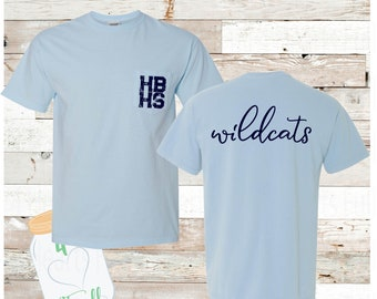 Youth & Adult HBHS Wildcats Comfort Colors Tee