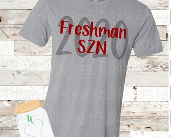 Freshman SZN Tee (Custom Colors) Unisex Adult