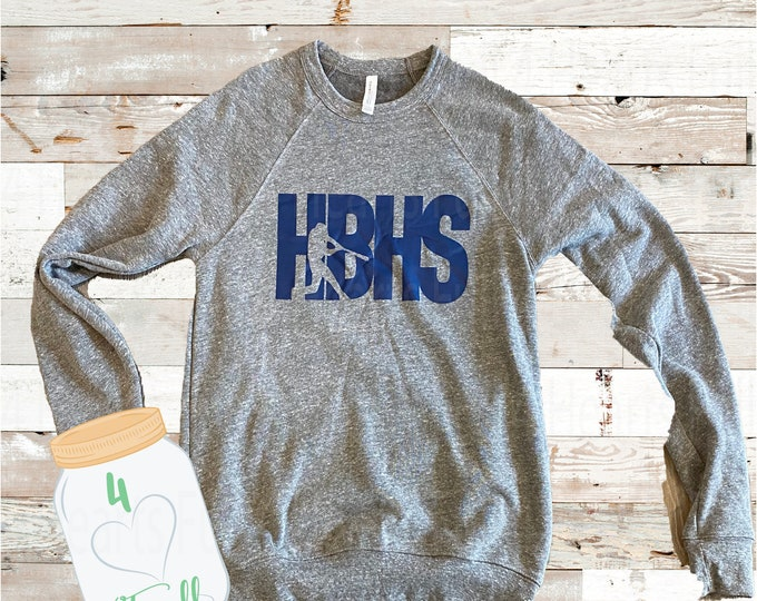 Featured listing image: Small Adult HBHS Grey Sweatshirt