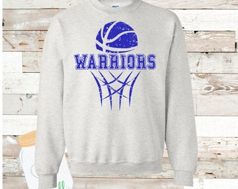 Warriors Basketball Ash Sweatshirt Adult