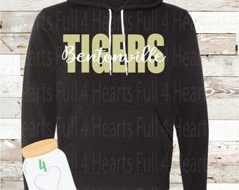 Youth Bentonville Tigers Black Hoodie
