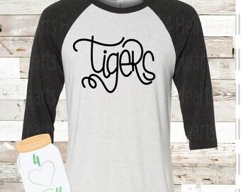 Tigers White Raglan Tee