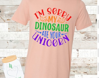 CHILD I'm sorry my dinosaur ate your unicorn Child Tee Unisex