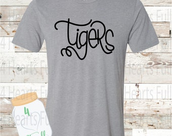 Tigers Gray, or White Tee