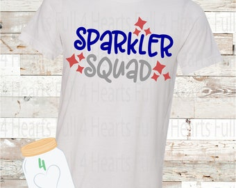 Sparkler Squad 4th of July Tee Unisex Adult