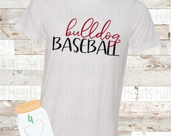 Personalize - insert team in place of - Bulldog Baseball Tee Team Baseball Tee Unisex Adult