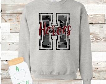 H Camo Heroes sweatshirt