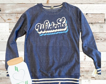 XL Adult retro Wildcats pullover