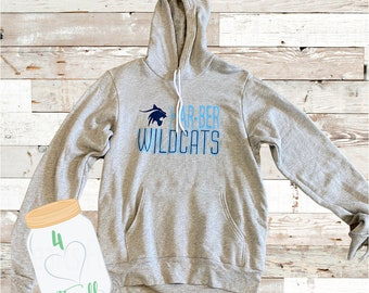 Medium Adult Wildcat Grey Hoodie