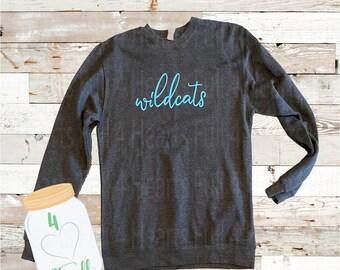 Large Adult wildcats Grey sweatshirt