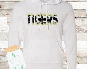 Tiger White Hoodie