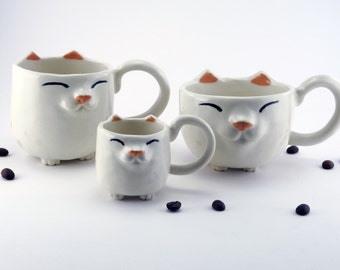 Happy Kitty Mug™ - Solid Colors