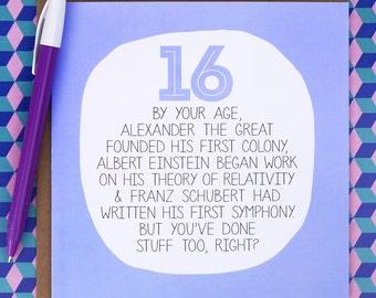 Funny 16th Birthday Card