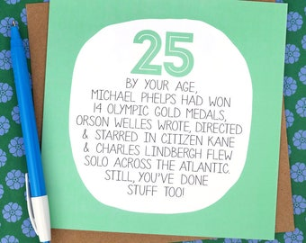 25th Birthday Card