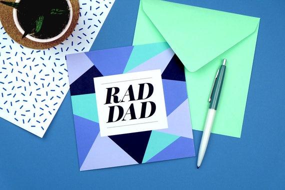 Rad Dad Card Birthday Funny For