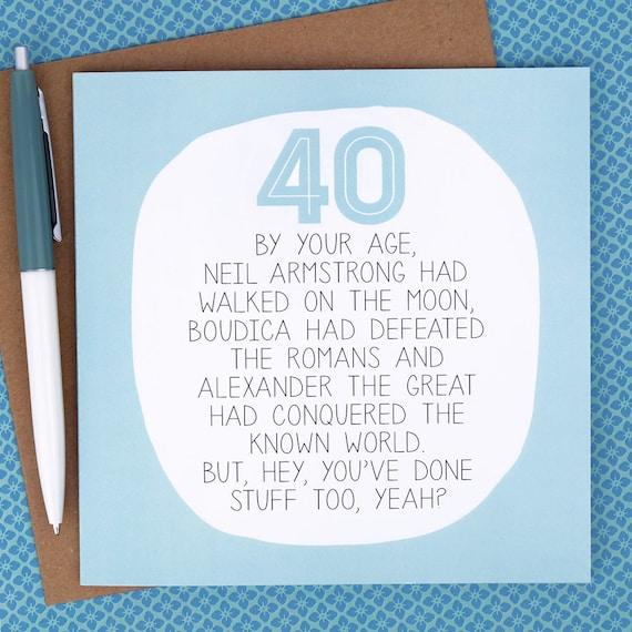 40 Geburtstagskarte Lustig Geburtstagskarte Lustige 40 Etsy
