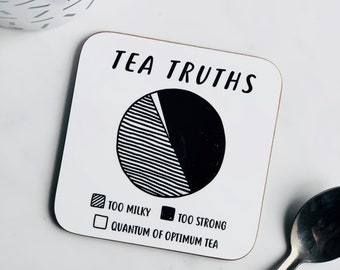 Tea Truths coaster - coasters - funny coasters - tea gifts - drinks coasters - drinks coaster