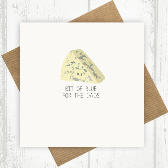 Funny Fathers Day Card Bit Of Blue For The Dads Dad Birthday Etsy