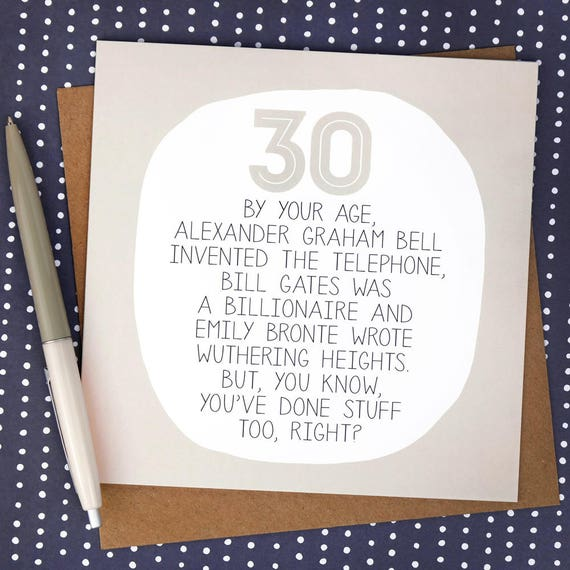 Funny 30th Birthday Card Cards