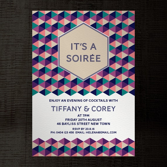 Soiree InDesign Template Party Invitation A5 For Birthday Engagement Corporate Events