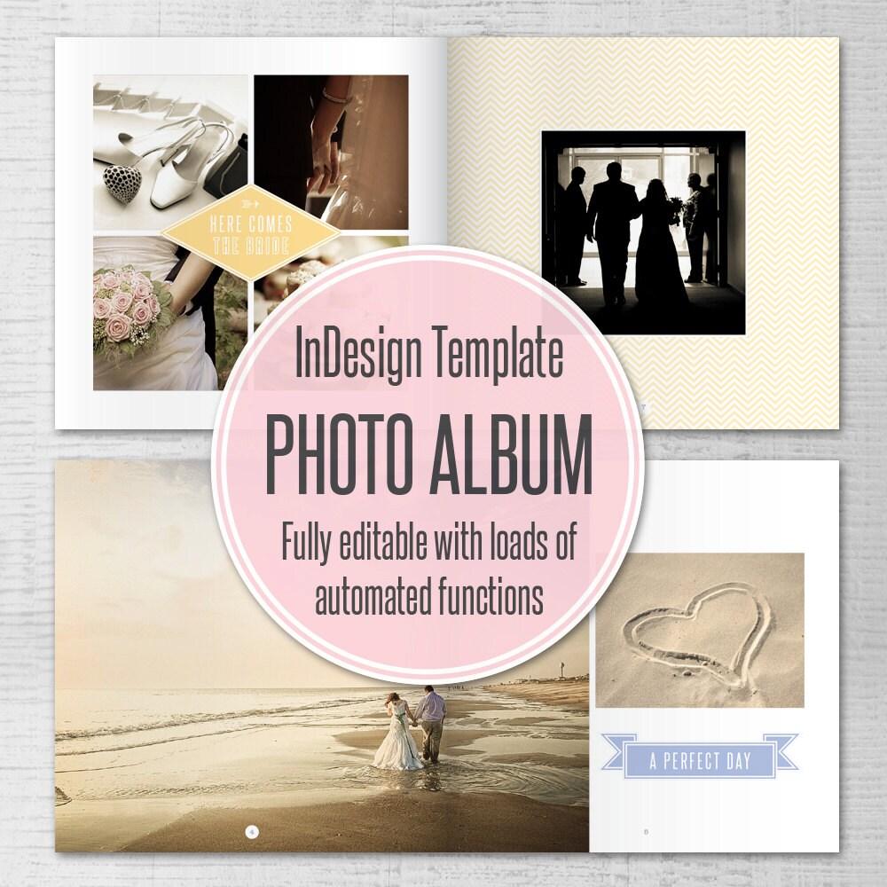 Plantilla de InDesign boda foto álbum 10 x 10 pulgadas para | Etsy