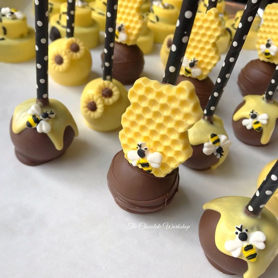 Cool Bumblebee Cake Pops Bee Party Favor Bee Birthday Bumble Etsy Funny Birthday Cards Online Inifofree Goldxyz