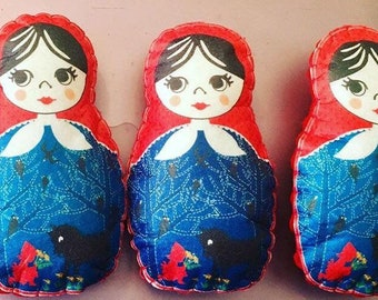 Little red riding hood Russian doll felt