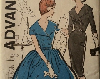Gorgeous Vintage Shirtdress Pattern---Advance 9589
