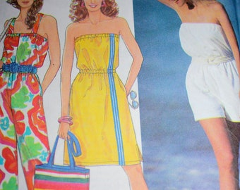 Jiffy Beach Cover-up, Tote and Jumpsuit Pattern---Simplicity 9751---All Sizes---UNCUT