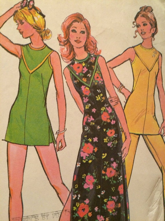 3493a93ace3 CLEARANCE Slimming Dress or Tunic and Pants or Shorts Pattern---McCalls  3193---Size 16 Bust 38. UNCUT