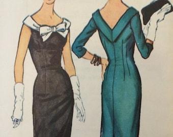 On Sale**** Vintage 1950's Bombshell Sheath Dress McCalls 4746****Size 12 Bust 32